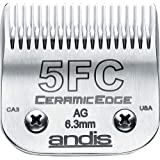 Andis CeramicEdge Carbon-Infused Steel Pet Clipper Blade, Size-5FC, 1/4-Inch Cut Length (64370)