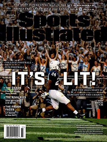 Sports Illustrated Magazine (September 10, 2018) It's Lit College Football = Fun Football Miles Sanders Cover