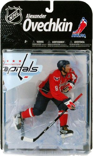 McFarlane Toys NHL Sports Picks Series 22 Action Figure: Alexander Ovechkin 3 (Washington Capitals) Red Jersey VARIANT