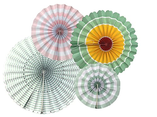 Monkey Home A Variety Of Paper Fans Party Fans,8 Decorative Fans Colourful by Monkey Home (Image #1)