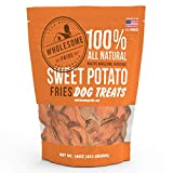 Wholesome Pride Sweet Potato Fries Dog Treats, Dehydrated, Made in The USA, Grain Free, Healthy Dog Chews, 8 oz