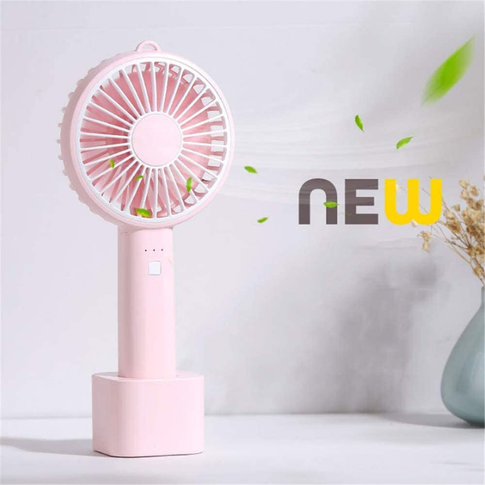 USB personal Desk fan Mini Handheld Fan Personal Portable Desk Stroller Table Fan With USB Rechargeable Battery Operated Cooling Folding Electric Fan For Office Room Outdoor Household Traveling Black