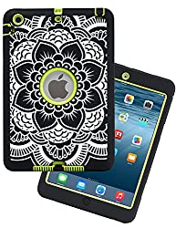 iPad Mini Case,iPad Mini 2 Case,iPad Mini 3 Case,Adela Shop Ultra Slim Fit Bumper Hard Case 3in1 Shockproof for Apple iPad Mini 1/2/3 [Full Body Protective] Lightweight with Pc & Silicone,Center Green