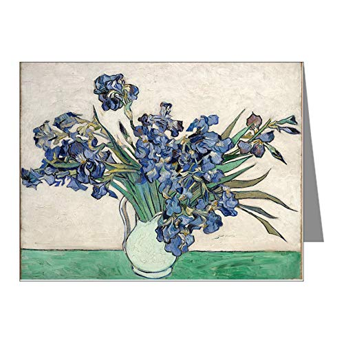CafePress Van Gogh Irises Blank Note Cards (Pack of 20) Matte