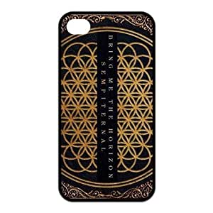 4s Case, iPhone 4 4s Case - Fashion Style New Bring Me The Horizon BMTH Painted Pattern TPU Soft Cover Case for iPhone 4/4s(Black/white)