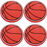 Four (4) of Basketball Rubber Charms for Wristbands and Shoes