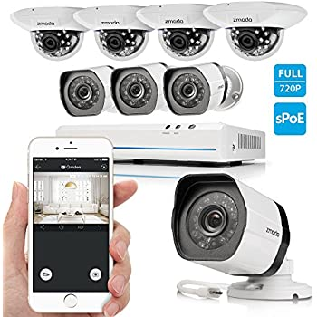 Amazon Com Zmodo 8ch Smart Poe Surveillance Camera