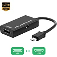 Micro USB to HDMI Adapter, MHL to HDMI HDTV Converter, HDMI Phone Adapter, MHL to HDMI HDTV Cable for Android Smart Phones, Tablets with MHL Function