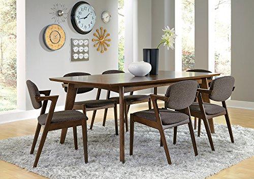 51UeESSBM0L - Coaster 105351 Home Furnishings Dining Table, Dark Walnut