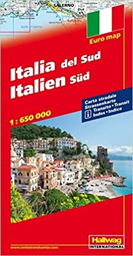 Road Map Of Southern Italy.Southern Italy Road Map Hallwag 9783828300286 Amazon Com Books