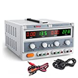Dr.meter Triple Linear DC Power Supply 30V 5A, Input voltage 104-127V, Alligator to Banana and AC Power Cable Included