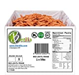 vegan gluten free pasta - Bentilia Lentil Pasta, Red Lentil Penne - 5 lb, Bulk Case; 100% Natural, Low Glycemic Index, High Protein & Fiber, Non-GMO, Gluten Free Pasta