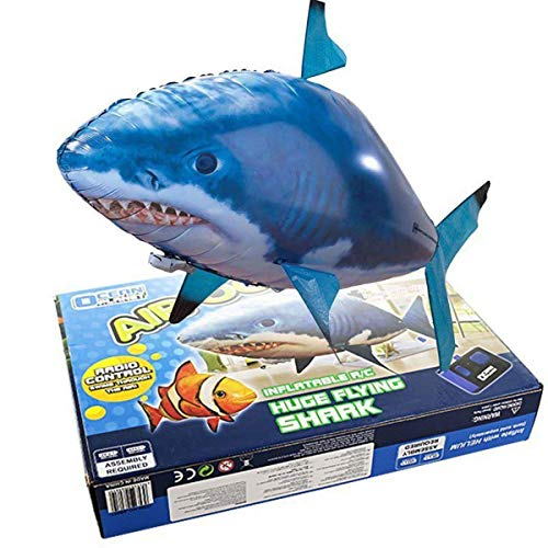 cooloh Remote Control Inflatable Balloon Air Swimmer Flying Shark Fish Radio Blimp (Blue Shark) by cooloh