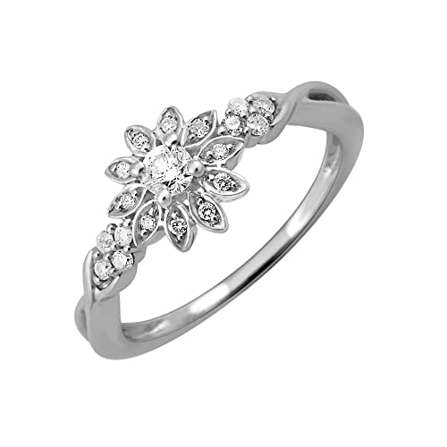 14k White Gold Diamond Ring Band (1/5 Carat)
