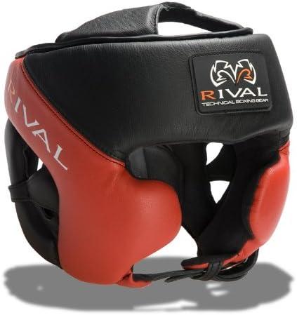 Rival Boxing RHG20 Pro MMA Sparring Training Headgear Head Gear Black//Red