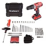 Stalwart 75-PT1005 20V Lithium Ion 62 Pc 2 Speed Hammer Drill & Accessory Kit,