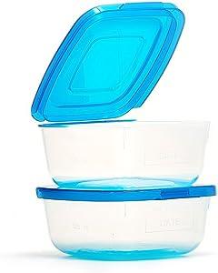 Mr Lid Premium Food Storage Container, 1 Cup (8oz), 2 Count