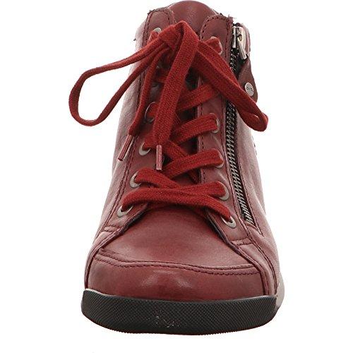 Zapatillas Mujer Borgo Altas Para Rom a Rojo ara RSq855