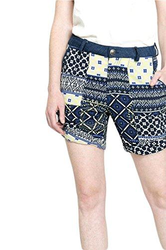 DESIGUAL donna Blu blu virginia Shorts da SSrwf8qTP