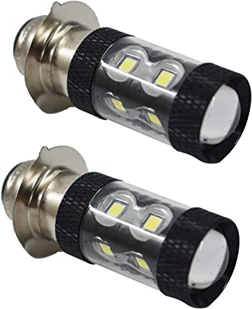 labwork-parts - 2 Bombillas LED de 100 W para Faros Delanteros para Honda TRX 250, 300, 400, 450 700