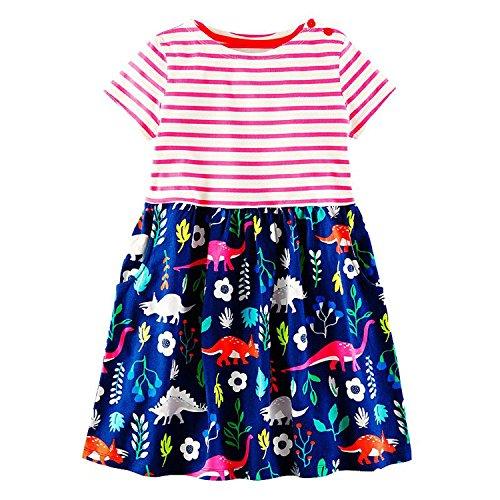 Princess Dress Toddler Girls Summer Clothing 2018 Brand Children Unicorn Costume for Girls Dresses A Line Vestidos,90,5