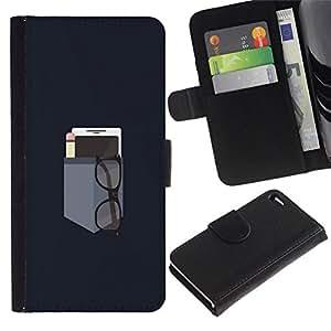 All Phone Most Case / Oferta Especial Cáscara Funda de cuero Monedero Cubierta de proteccion Caso / Wallet Case for Apple Iphone 4 / 4S // MINIMALIST POCKET