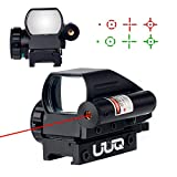 UUQ Tactical Holographic Red/Green Reflex Scope Sight 4 Reticles W/ RED Laser ( 12 Month Warranty)
