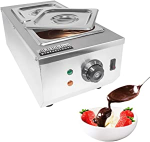 ALDKitchen Chocolate Melting Pot   Manual Control Chocolate Melter for Home or Bakery Use   2 Tanks for 4 kg of Tempered Chocolate   110V   1kW