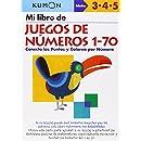 Mi Libro de Juegos de Numeros 1-70 / Number Games 1-70: Conecta Los Puntos Y Colorea Por Numero: Edades 3-4-5 (Spanish Edition)