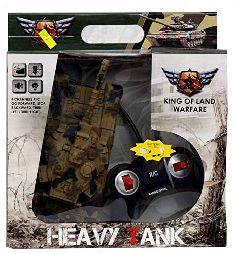 Johnnie Boy T-90 Remote Control Army Tank Toy with 4 Function for Kids with Light and Music Effects  (Multicolor)