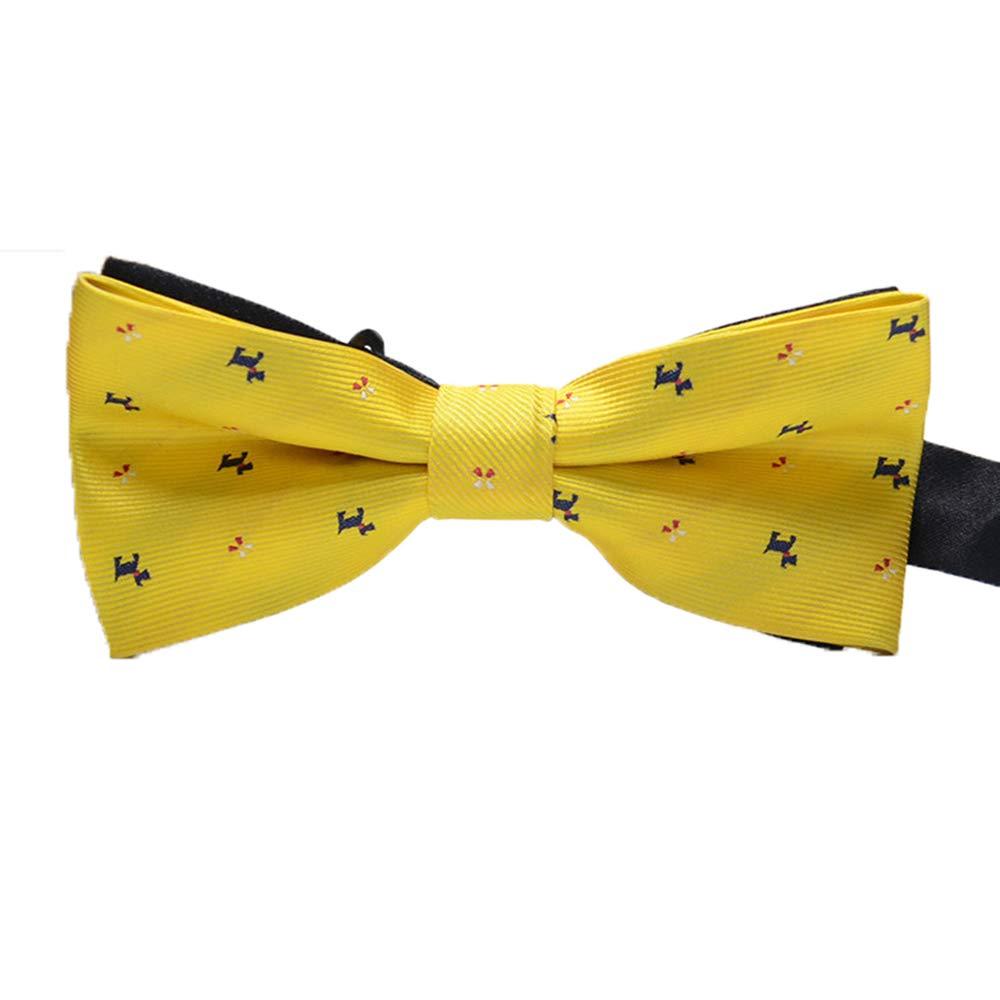 BOROLA Elegant Pre-tied Adjustable Mens Bow Tie for Men Boys Pattern 3