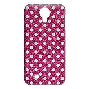 Loud Universe Samsung Galaxy S4 Glitter Dots Print 3D Wrap Around Case - Pink/Silver