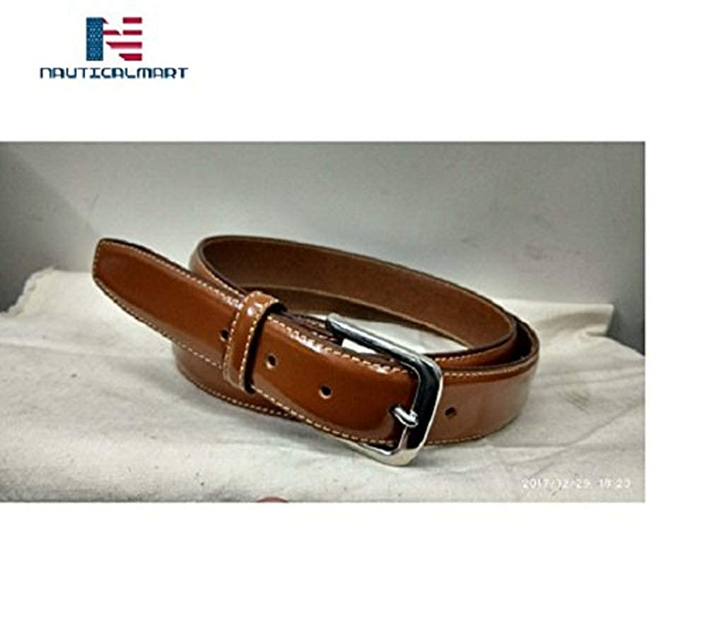 Al-Nurayn Mens Belt Vintage Genuine Leather Belt Brown