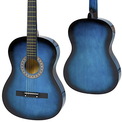 MEDA 5 String Acoustic Guitar, Blue (40190) by MEDA