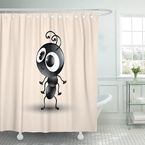 Emvency Fabric Shower Curtain Curtains With Hooks Red