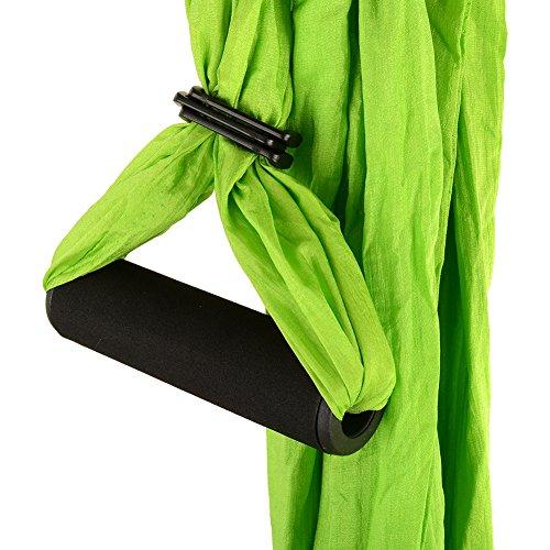 Shineliu Yoga Swing Antigravity Yoga Hammock Aerial Yoga for Flying Yoga Inversion Exercises, Green