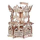 Wood Trick Wooden Carousel Horse Toy, Merry-Go-Round Toy Rotating Mechanical Model - 3D Wooden Puzzle, Assembly Model - STEM Toys for Boys and Girls