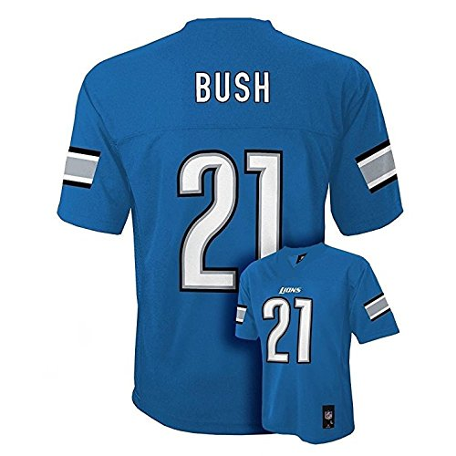 Outerstuff Reggie Bush Detroit Lions #21 Youth Mid-tier Jersey Blue (Youth X-Large 18/20)