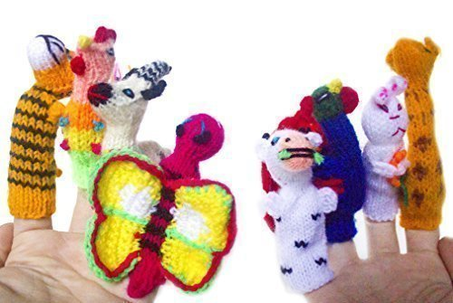 FREE GIFT! Bunny Rabbit PUPPET – Plus Ten Handmade Toy Story Telling Fun Family Finger Puppets Playtime Perfect For Toddlers 1 Best For The Holidays …