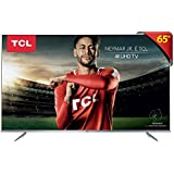 "Smart TV LED 65"" Ultra HD 4K HDR com Wifi integrado 3 HDMI 2 USB, TCL, 65P6US, Prata"