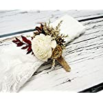Ivory-Brown-Burgundy-Gold-Rustic-Wedding-Boutonniere-Sola-Flowers-Burlap