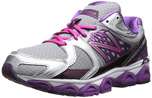 New Balance Women's W1340 Optimum Control Running Shoe,Purple/Silver,6 D US