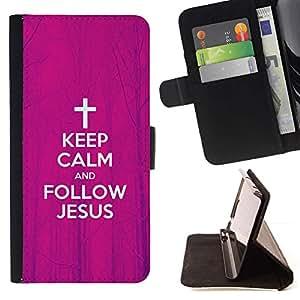 Momo Phone Case / Flip Funda de Cuero Case Cover - BIBLIA Mantener la calma y seguir a Jesús; - Samsung ALPHA G850