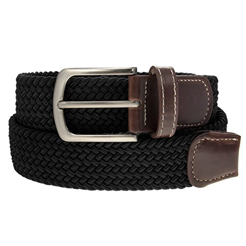 Woven Elastic Belt (DG Hill Unisex Elastic Woven Stretch Braided Belt,Large fits waist sizes)