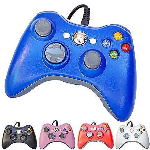 PomeMall USB Wired Game Pad Controller for Xbox 360, Windows 7 (X86), Windows 8 (X86) (Blue) - Xbox 360 Usb Headset