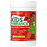 Vibrant Health - Super Kids Vibrance, Greens, Vitamins, Probiotics, and Protein, Awesome Apple, 14 Servings