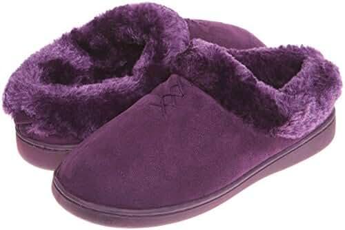 Jockey Womens Indoor Outdoor Fur Lined Clog Slippers | Furry Slip On House Slipper