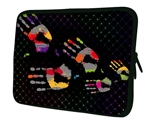 "7.9""Design ipad mini/iPad Mini 2/iPad Mini 3funda suave carcasa Bolsa Pouch Skin. Ajuste perfecto. Diferentes patrones Disponible. (parte 1de 3) huellas de manos"