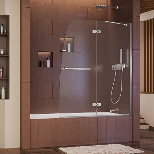 Dreamline Aqua Tub Door (DreamLine Aqua Ultra 48 in. Width, Frameless Hinged Tub Door, 5/16
