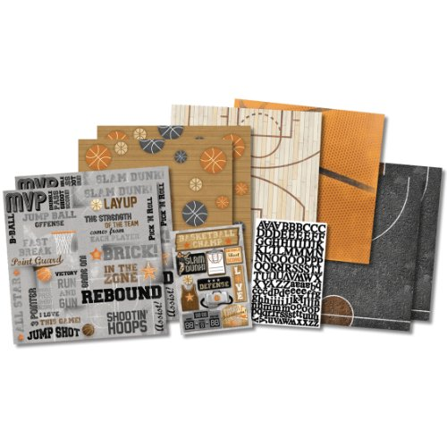 (Karen Foster Scrapbook Page Kit, 12 by 12-Inch, Basketball Champ)